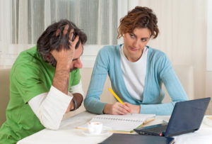 couple having problem with their finances